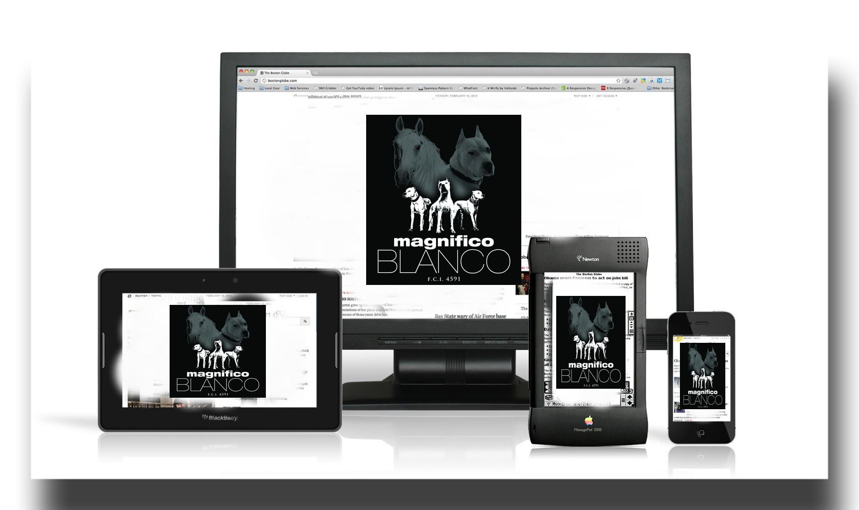 dogo argentino - magnifico blanco site redesign